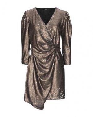 Короткое платье HANITA. Цвет: хаки