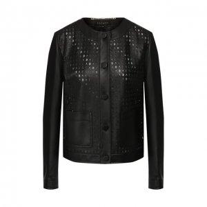 Кожаная куртка Escada. Цвет: чёрный
