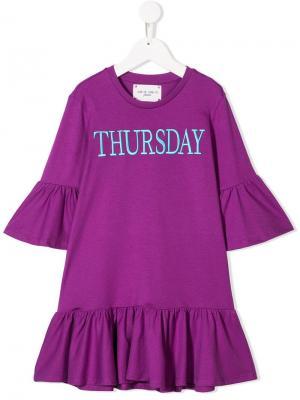 Платье Thursday Alberta Ferretti Kids. Цвет: фиолетовый