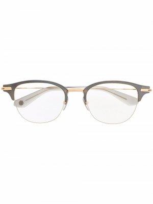 Очки Iambic в круглой оправе Dita Eyewear. Цвет: серебристый