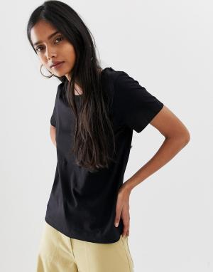 Черная футболка Kate Weekday. Цвет: черный