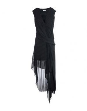 Длинное платье ISSA. Цвет: черный