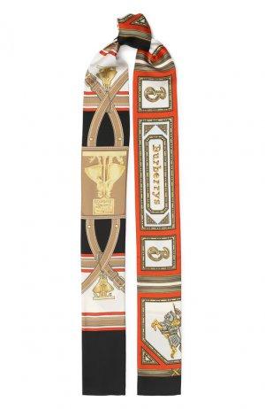Шелковый шарф-бандо Burberry. Цвет: черный