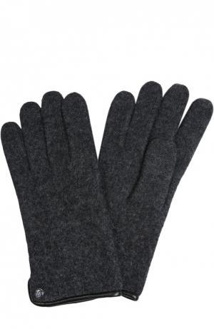 Вязаные перчатки Roeckl. Цвет: серый