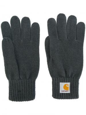 Трикотажные перчатки Carhartt. Цвет: серый
