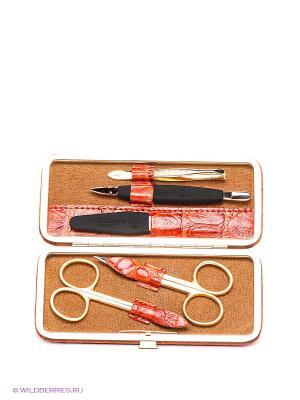 Маникюрный набор GD. Цвет: рыжий