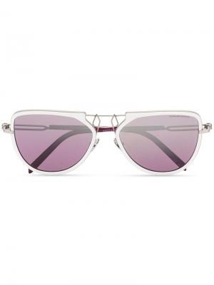Солнцезащитные очки Calvin Klein 205W39nyc. Цвет: белый