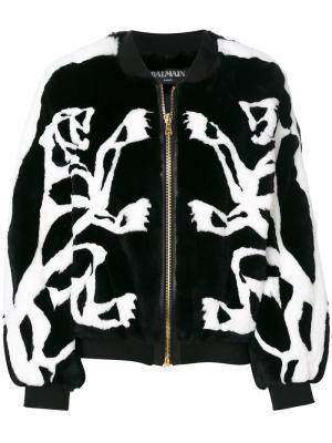 Куртка-бомбер Balmain. Цвет: чёрный