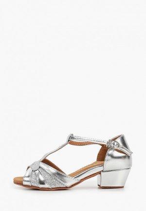 Туфли для танцев Dance House S-5536DS. Цвет: серебряный