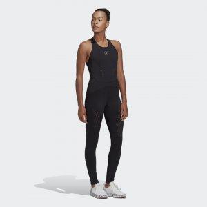 Комбинезон для фитнеса TRUEPURPOSE by Stella McCartney adidas. Цвет: черный