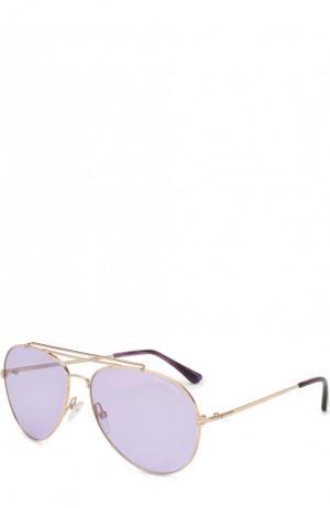 Солнцезащитные очки Tom Ford. Цвет: бежевый