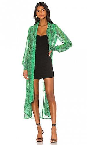 Пальто xenia NBD. Цвет: зеленый