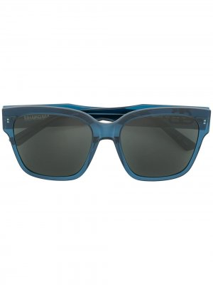 Солнцезащитные очки с логотипом BB Balenciaga. Цвет: синий