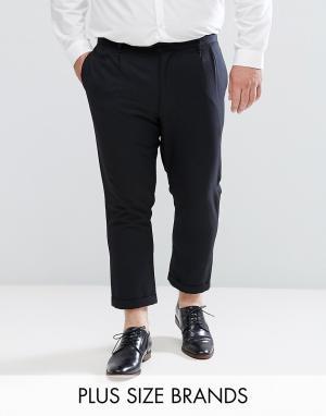 Укороченные брюки со складками PLUS-Черный Bellfield