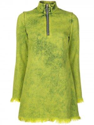 MarquesAlmeida платье с длинными рукавами Marques'Almeida. Цвет: зеленый