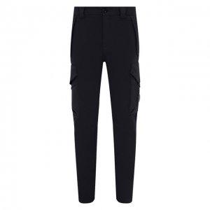 Хлопковые брюки-карго C.P. Company. Цвет: синий