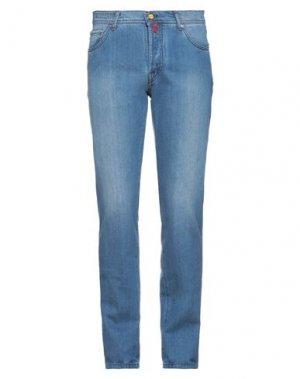 Джинсовые брюки KITON. Цвет: синий