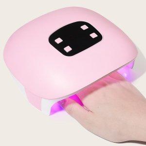 1шт Лампа для быстрой сушки лака ногтей с USB-зарядкой SHEIN. Цвет: многоцветный