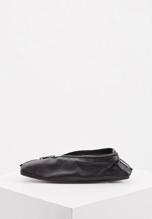 Балетки MM6 Maison Margiela. Цвет: черный