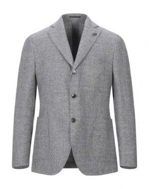 Пиджак GABRIELE PASINI. Цвет: серый