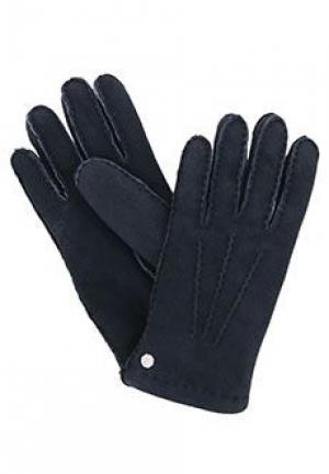Перчатки STEFANO RICCI. Цвет: синий