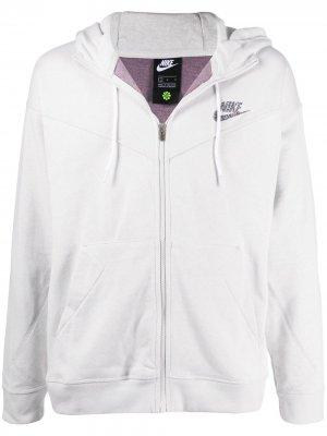 Худи с логотипом Nike. Цвет: серый