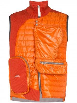 Жилет со вставками и карманами A-COLD-WALL*. Цвет: оранжевый