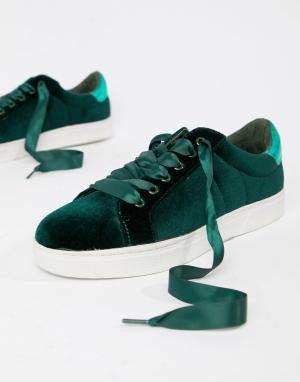 Бархатные кроссовки Sofie Schnoor. Цвет: серый