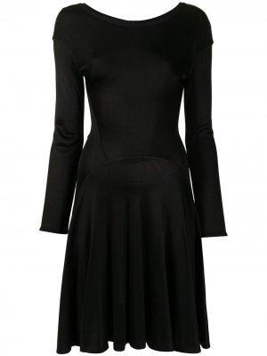 Расклешенное платье с длинными рукавами Alaïa Pre-Owned. Цвет: черный