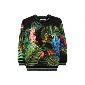 Хлопковый свитшот Dolce & Gabbana. Цвет: разноцветный