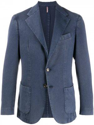 Delloglio однобортный пиджак с заостренными лацканами Dell'oglio. Цвет: синий
