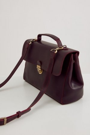 Сумка-портфель с подкладкой Unique Fabric. Цвет: бордовый