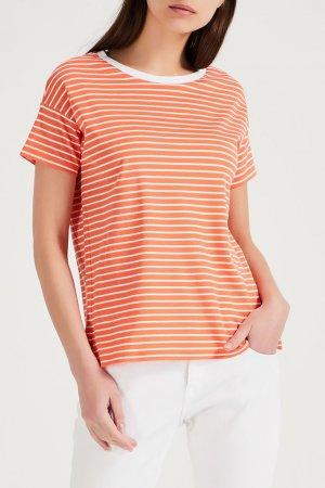 Оранжевый пуловер Amina Rubinacci. Цвет: оранжевый