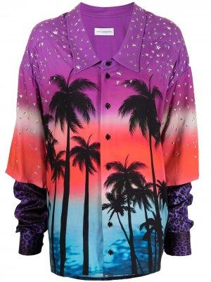 Рубашка оверсайз с принтом Faith Connexion. Цвет: разноцветный