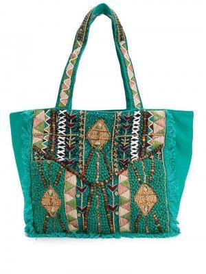 Сумка-тоут Mauri Antik Batik. Цвет: зеленый