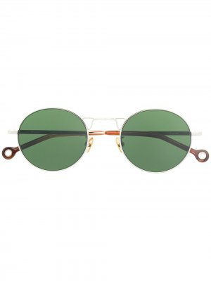 Солнцезащитные очки в круглой оправе Etudes. Цвет: серебристый