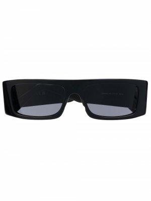 Солнцезащитные очки в прямоугольной оправе Gcds. Цвет: черный