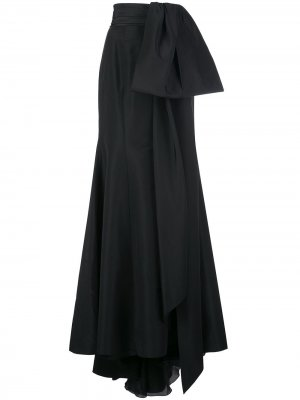 Юбка макси с бантом Carolina Herrera. Цвет: черный