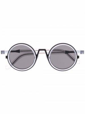 Солнцезащитные очки в круглой оправе VAVA Eyewear. Цвет: белый