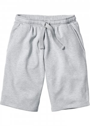 Трикотажные шорты стандартного покроя bonprix. Цвет: серый