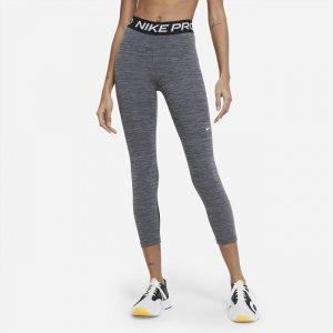 Женские укороченные леггинсы со средней посадкой Pro 365 - Черный Nike