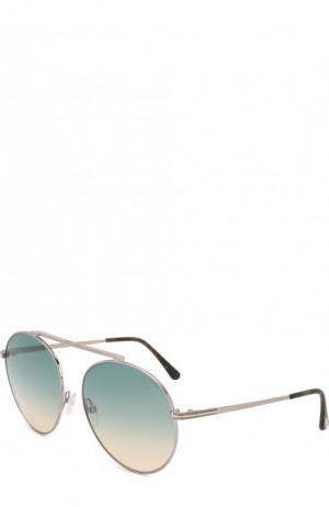 Солнцезащитные очки Tom Ford. Цвет: голубой