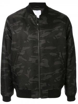 Куртка-бомбер с камуфляжным узором Ports V. Цвет: черный