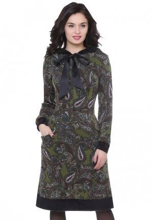 Платье Olivegrey AGILERA. Цвет: хаки