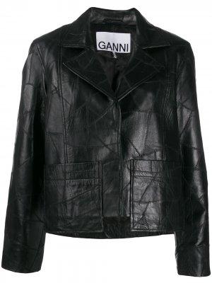 Куртка в технике пэчворк GANNI. Цвет: черный