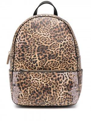 Рюкзак с леопардовым принтом LIU JO. Цвет: коричневый