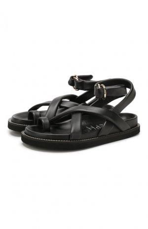 Кожаные сандалии Joseph. Цвет: чёрный