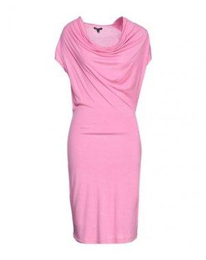 Платье миди FULL CIRCLE. Цвет: розовый