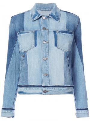 Джинсовая куртка с нагрудными карманами Frame Denim. Цвет: синий