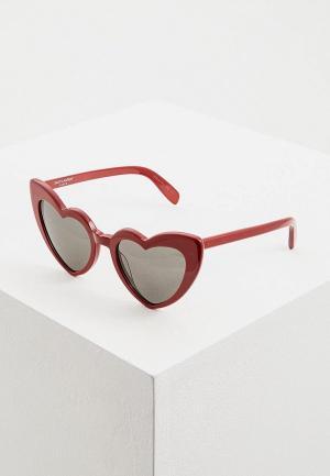 Очки солнцезащитные Saint Laurent SL 181 LOULOU002. Цвет: красный